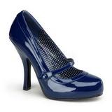Azul Charol 12 cm retro vintage CUTIEPIE-02 zapatos mary jane con plataforma escondida