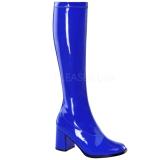 Azul Charol 8,5 cm GOGO-300 Botas de mujer para Hombres