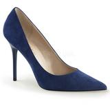 Azul Gamuza 10 cm CLASSIQUE-20 zapatos de stilettos tallas grandes