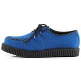 Azul Gamuza 2,5 cm CREEPER-602S Zapatos Creepers Hombres