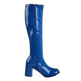 Azul Lacado 7,5 cm Funtasma GOGO-300 Botas Media Mujer