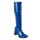 Azul Lacado 8,5 cm Funtasma GOGO-300 Botas Media Mujer