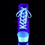 Azul Neon 15 cm DELIGHT-600SK-02 Zapatos de lona con tacón