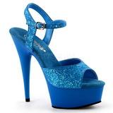 Azul Neon 15 cm Pleaser DELIGHT-609UVG Plataforma Tacones de Aguja