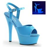 Azul Neon 15 cm Pleaser KISS-209UV Plataforma Tacones de Aguja