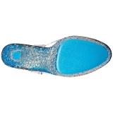 Azul Neon 18 cm Pleaser CRYSTALIZE-308PS Plataforma Tacones de Aguja