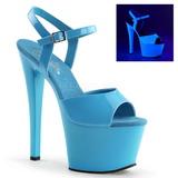 Azul Neon 18 cm Pleaser SKY-309UV Plataforma Tacones de Aguja