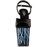 Azul Neon 20 cm Pleaser FLAMINGO-809NLB Plataforma Tacones de Aguja