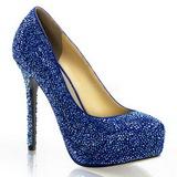 Azul Piedras Strass 13 cm PRESTIGE-20 Plataforma Zapato Salón