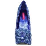 Azul Piedras Strass 14,5 cm TEEZE-06R Plataforma Zapato Salón