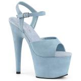 Azul Polipiel 18 cm ADORE-709FS sandalias de tacón alto