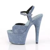 Azul Polipiel 18 cm ADORE-709WR sandalias de tacón alto
