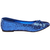 Azul STAR-16G brillo zapatos de bailarinas mujer planos