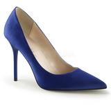 Azul Satinado 10 cm CLASSIQUE-20 zapatos de stilettos tallas grandes