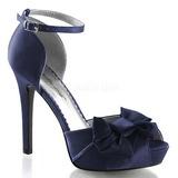 Azul Satinado 12 cm LUMINA-36 Zapato Sal�n de Noche con Tac�n