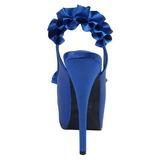 Azul Satinado 14,5 cm Burlesque TEEZE-56 Zapatos de Tacón Alto