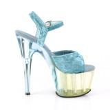 Azul Terciopelo 18 cm ADORE-709MCT sandalias de pole dance