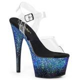Azul purpurina 18 cm ADORE-708SS Zapatos con tacones pole dance