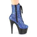 Azul purpurina 18 cm Pleaser ADORE-1020MG botines mujer de pole dance