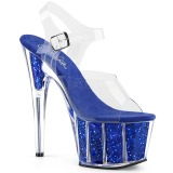 Azul purpurina 18 cm Pleaser ADORE-708G Zapatos con tacones pole dance