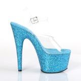Azul purpurina 18 cm Pleaser ADORE-708LG Zapatos con tacones pole dance
