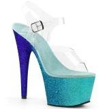 Azul purpurina 18 cm Pleaser ADORE-708OMBRE Zapatos con tacones pole dance