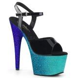 Azul purpurina 18 cm Pleaser ADORE-709OMB Zapatos con tacones pole dance