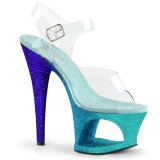Azul purpurina 18 cm Pleaser MOON-708OMBRE Zapatos con tacones pole dance