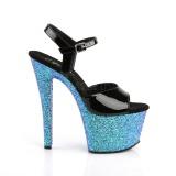 Azul purpurina 18 cm Pleaser SKY-309LG Zapatos con tacones pole dance