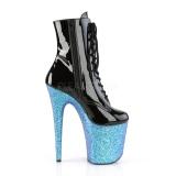 Azul purpurina 20 cm FLAMINGO-1020LG botines de pole dance