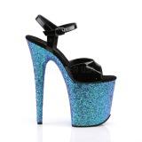 Azul purpurina 20 cm Pleaser FLAMINGO-809LG Zapatos con tacones pole dance