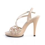 Beige 11,5 cm FLAIR-413 Zapatos Fabulicious Plataforma