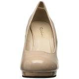 Beige 11,5 cm FLAIR-480 Zapatos de tacón altos mujer