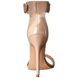 Beige 13 cm Pleaser AMUSE-10 sandalias de tacón alto