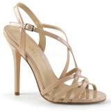 Beige 13 cm Pleaser AMUSE-13 sandalias de tacón alto