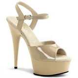 Beige 15 cm Pleaser DELIGHT-609 Tacones Altos Plataforma