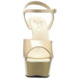 Beige 15 cm Pleaser DELIGHT-609 Tacones Altos Plataforma