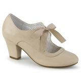 Beige 6,5 cm WIGGLE-32 retro vintage zapatos de salón maryjane tacón ancho
