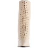 Beige 7 cm VICTORIAN-120 Botines de Cordones Altos Mujer