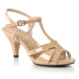 Beige 8 cm BELLE-322 Zapatos para travestis