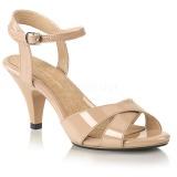 Beige 8 cm Fabulicious BELLE-315 sandalias de tacón alto
