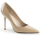 Beige Charol 10 cm CLASSIQUE-20 Zapatos de Salón para Hombres