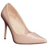 Beige Charol 10 cm CLASSIQUE-20 zapatos puntiagudos tacón de aguja