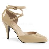 Beige Charol 10 cm DREAM-408 zapatos de salón tallas grandes