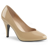 Beige Charol 10 cm DREAM-420 Zapatos de Salón para Hombres