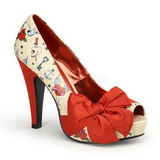 Beige Charol 11,5 cm BETTIE-13 Plataforma Zapato de Salón