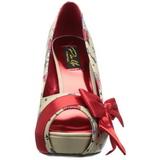 Beige Charol 11,5 cm BETTIE-13 Plataforma Zapatos de Salón