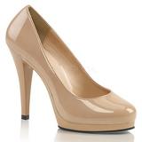 Beige Charol 11,5 cm FLAIR-480 zapatos de salón para hombre