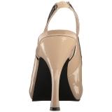 Beige Charol 11,5 cm PINUP-10 sandalias tallas grandes