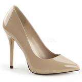 Beige Charol 13 cm AMUSE-20 Stiletto Zapatos Tacón de Aguja